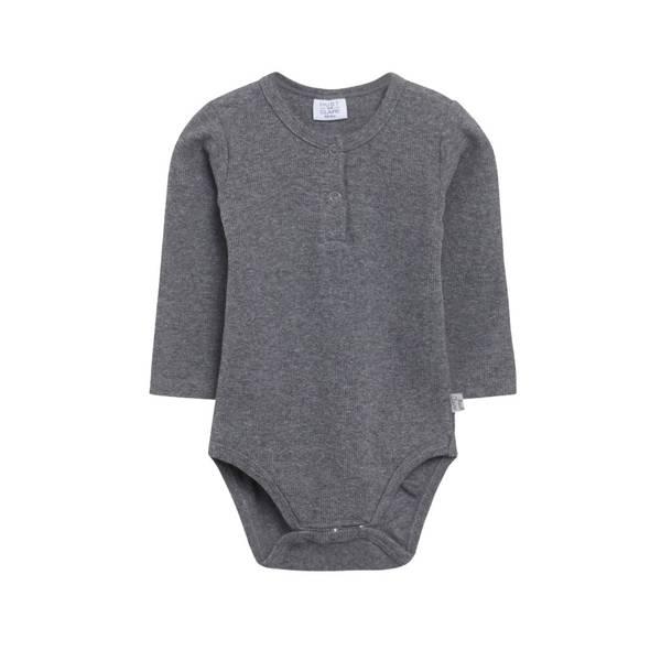 Bilde av Hust & Claire ribb body til baby, grå