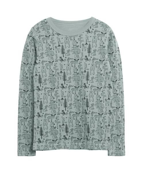 Bilde av Hust & Claire genser i ull med skogsprint, Jade