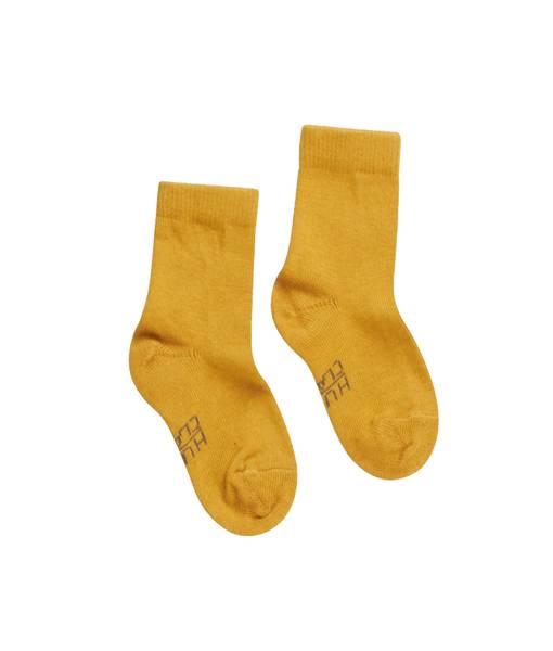 Bilde av Hust & Claire sokker i ull og bambus, kanari gul