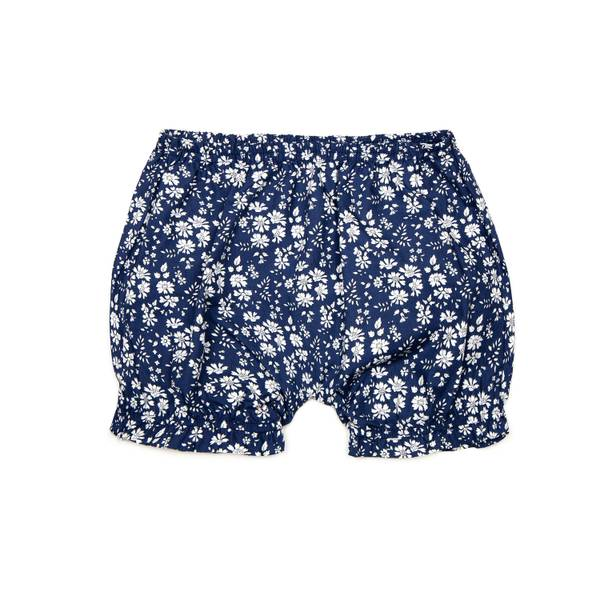 Bilde av Huttelihut shorts med blomsterprint, blå