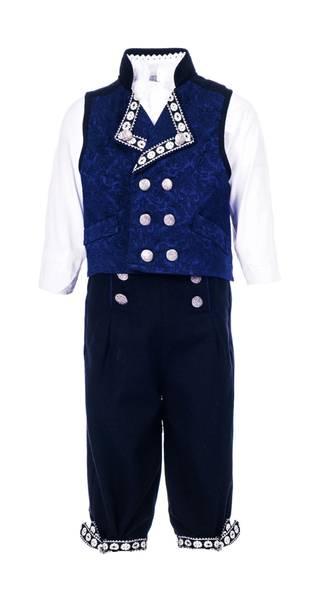 Bilde av Salto bunad / Festdrakt til gutt med skjorte, blå