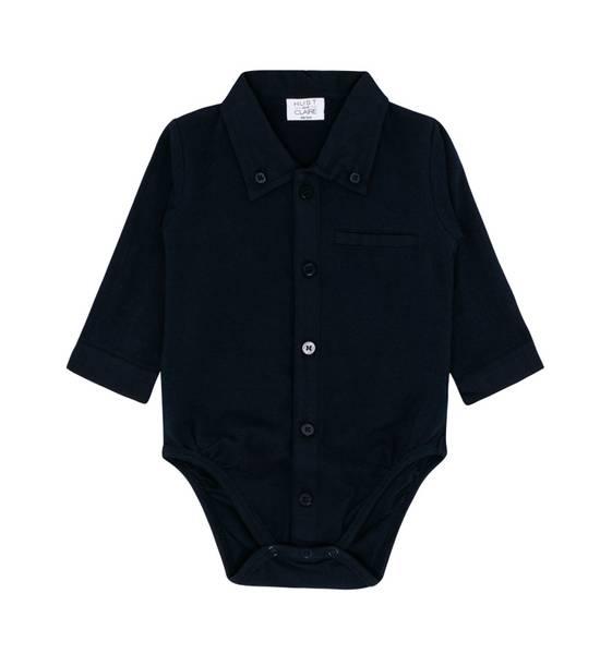 Bilde av Hust and Claire skjortebody til baby, marineblå