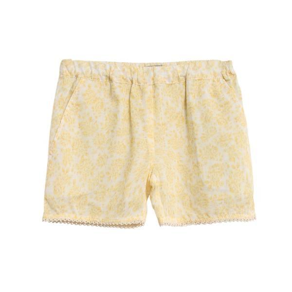 Bilde av Wheat shorts til barn med blomsterprint, lemon