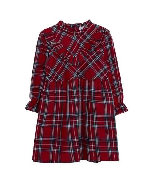 Bilde av Hust & Claire Dressy kjole med skotskruter, rød