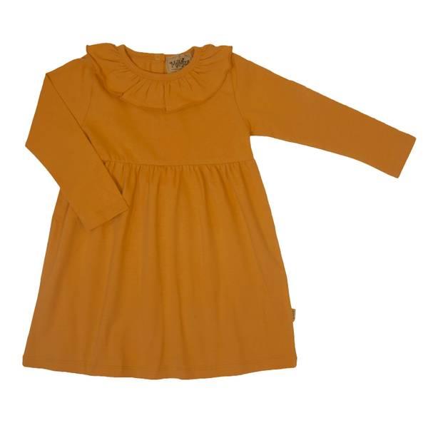 Bilde av Memini Ally jersey kjole med krage, Mustard