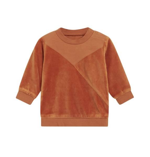Bilde av Hust & Claire Sofus velour sweatshirt, terracotta