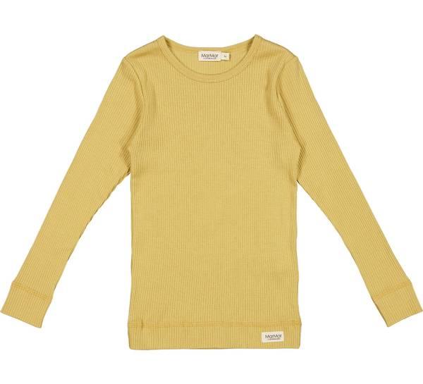 Bilde av MarMar plain ribb genser til barn, hay