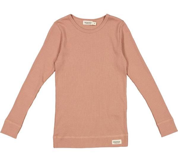 Bilde av MarMar plain ribb genser til barn, rose brown