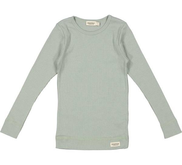 Bilde av MarMar plain ribb genser til barn, sage