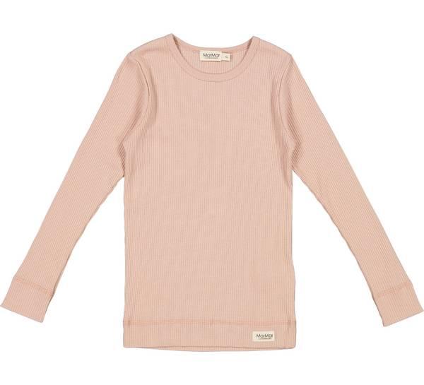 Bilde av MarMar plain ribb genser til barn, light check