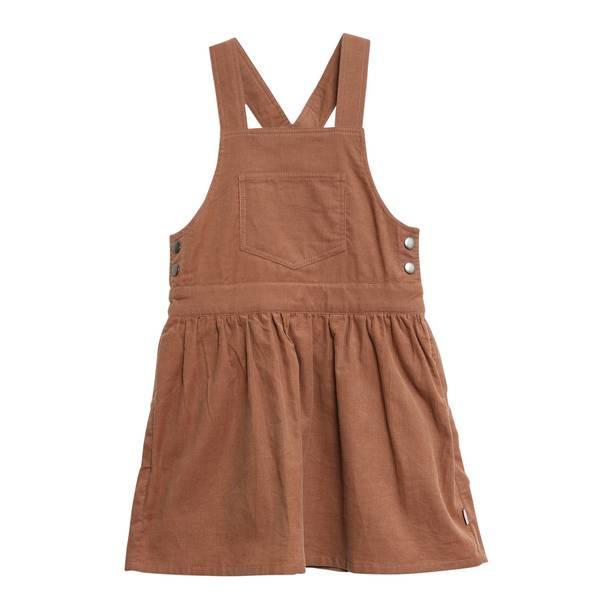 Bilde av Wheat kordfløyel spencer kjole til barn, caramell