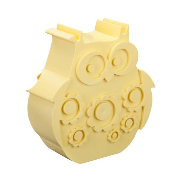 Bilde av Blafre uglematboks i plast med to rom, gul