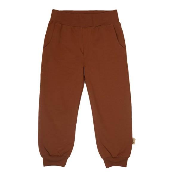 Bilde av Memini Cosy jersey bukse til barn, copper brown