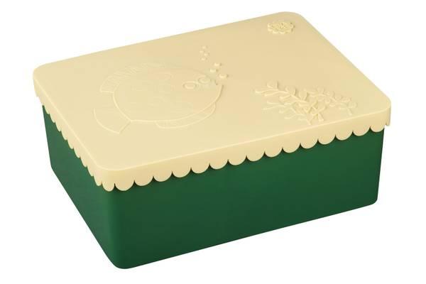 Bilde av Blafre treroms matboks i plast med fisk, beige og