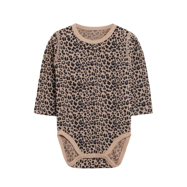 Bilde av Hust & Claire ull/silke body med leopardprint