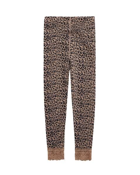Bilde av Hust & Claire ull/silke leggings med leopardprint