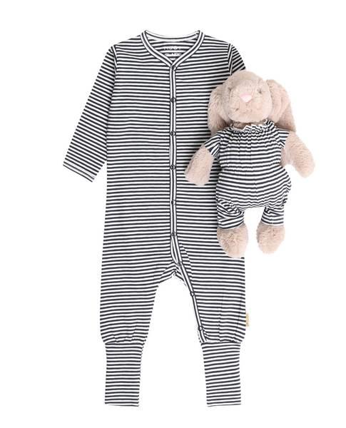 Bilde av Hust & Claire Isa pyjamas med striper, navy