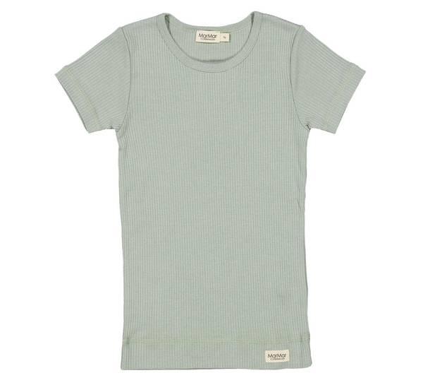 Bilde av MarMar plain ribb t-skjorte til barn, sage