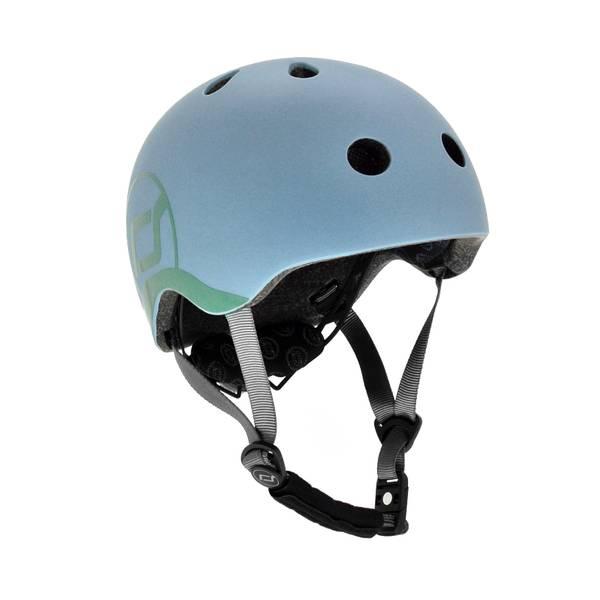 Bilde av Scoot & Ride hjelm 1-4 år, steel