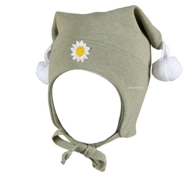 Bilde av Kivat vårlue til baby og  barn med blomst, lys