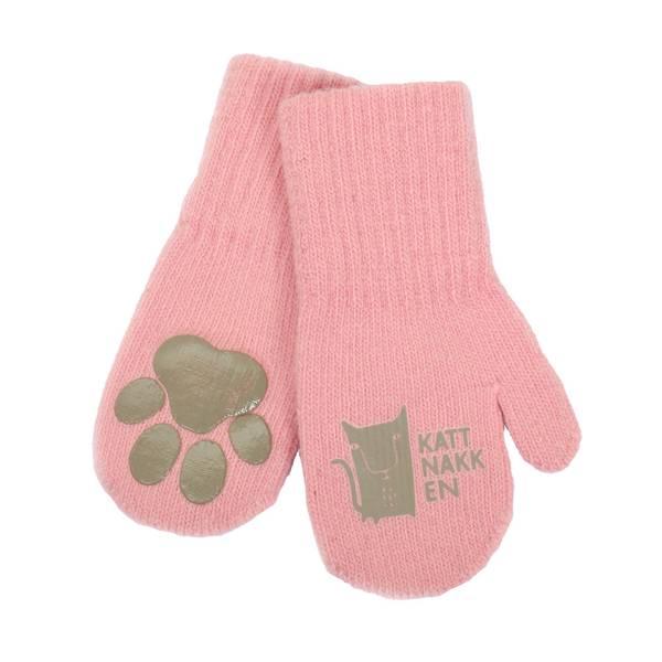 Bilde av Kattnakken magiske ullvotter til barn, rosa