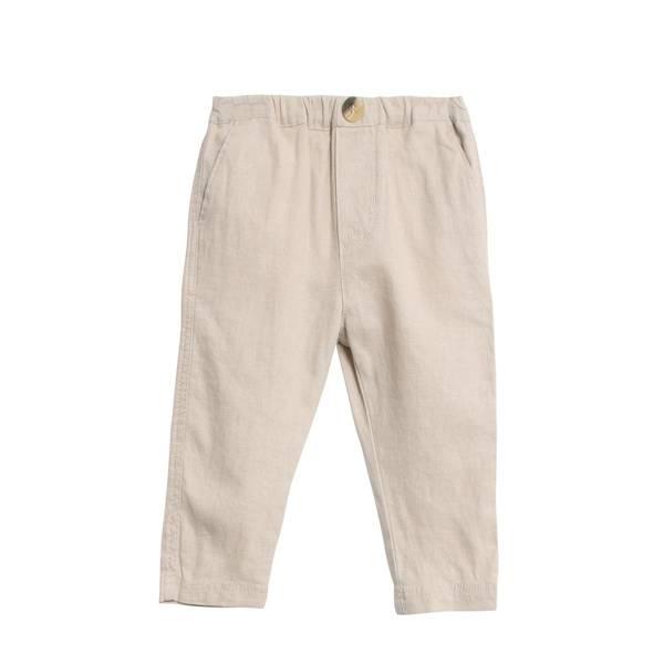 Bilde av Wheat bukse i lin til baby, sand