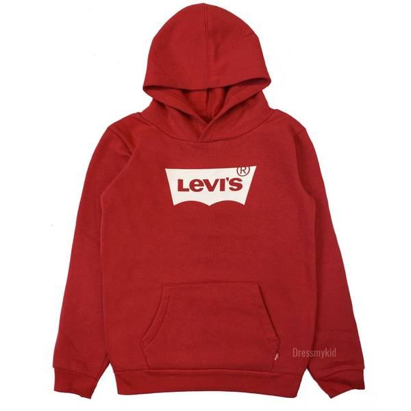 Bilde av Levis batwing hettegenser, Rød