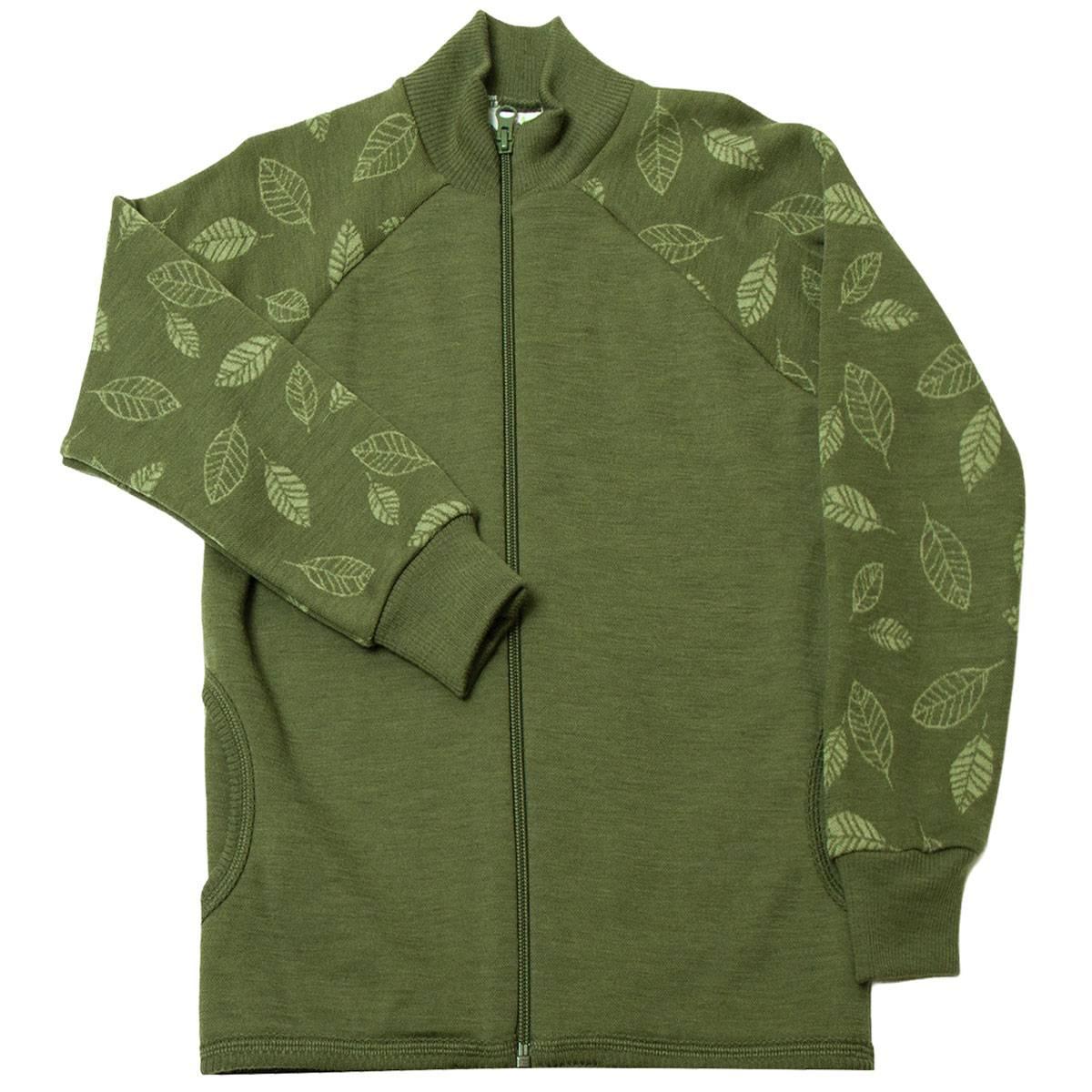 Joha ullgenser til barn med zip, grønn