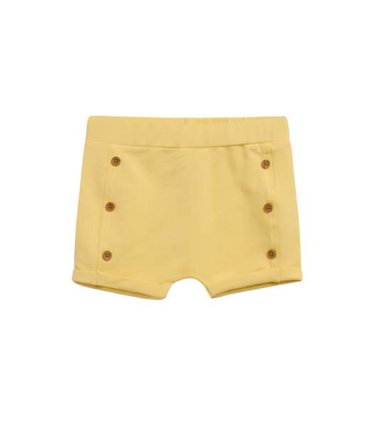 Bilde av Hust & Claire shorts til baby med knapper, gul