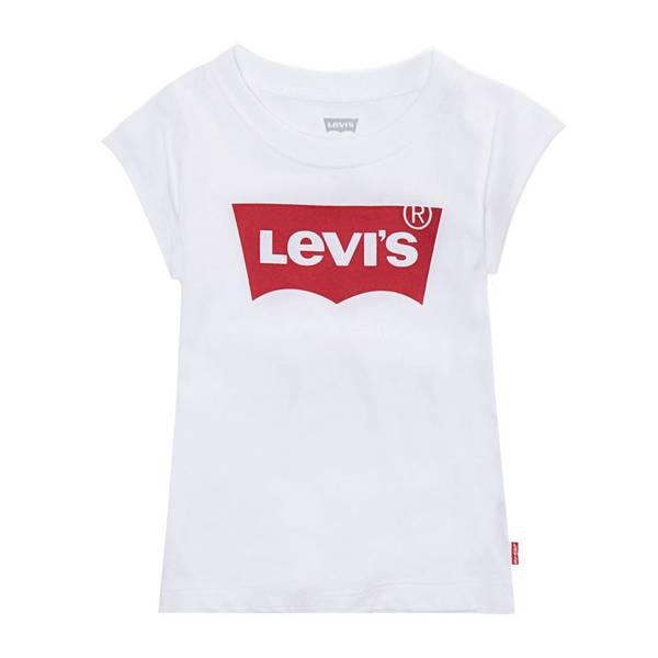 Bilde av Levis batwing t-skjorte til jente, Hvit