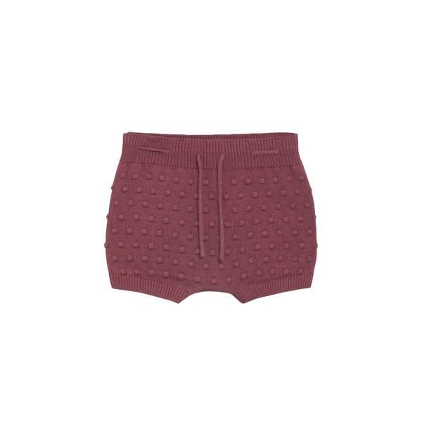 Bilde av Hust & Claire strikket shorts til baby, red rouge