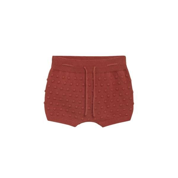 Bilde av Hust & Claire strikket shorts til baby, rusty