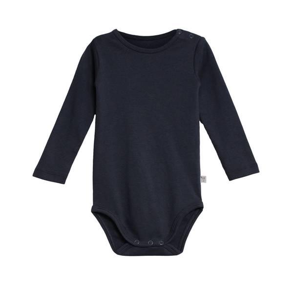 Bilde av Wheat ribb body til baby og barn, midnight blue