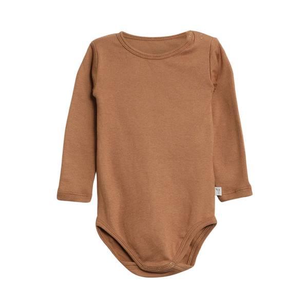 Bilde av Wheat ribb body til baby og barn, caramel