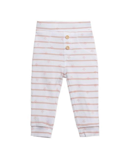Bilde av Hust & Claire bukse med sjøstjerner, rosa og hvit