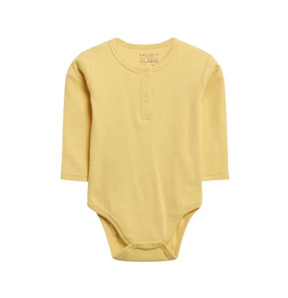 Bilde av Hust & Claire ribb body til baby, gul