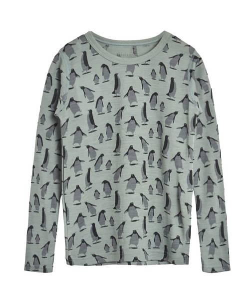Bilde av Hust & Claire genser merinoull med pingviner,