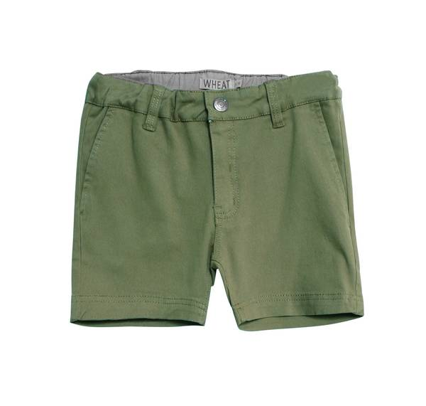 Bilde av Wheat chinos shorts til gutt, army