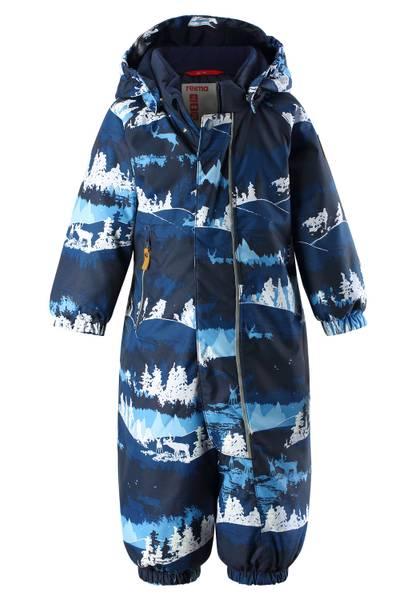 Bilde av Reimatec Puhuri vinterdress til baby, jeans blå