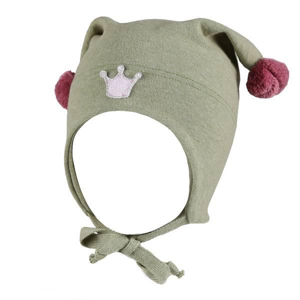 Bilde av Kivat vårlue til barn med krone, grønn og
