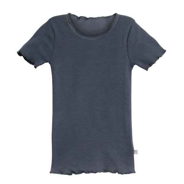 Bilde av Wheat ribb lace t-skjorte til barn, greyblue