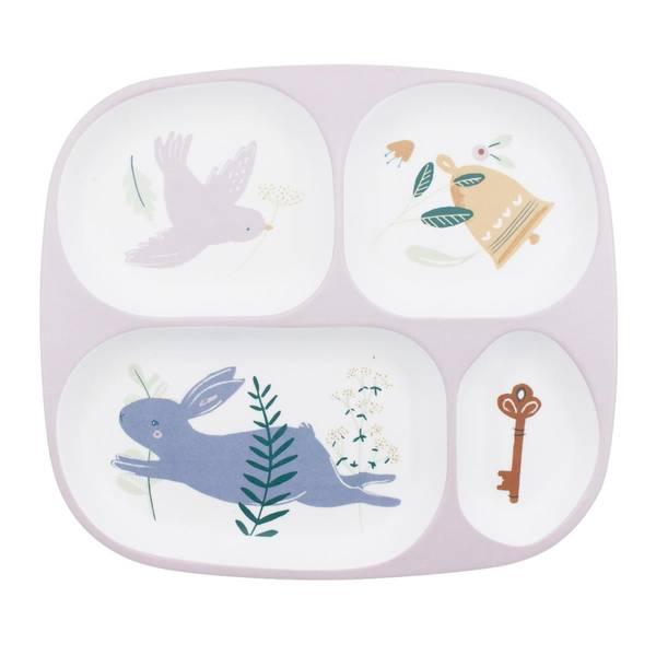 Bilde av Sebra melamin 4-delt tallerken til barn, daydream