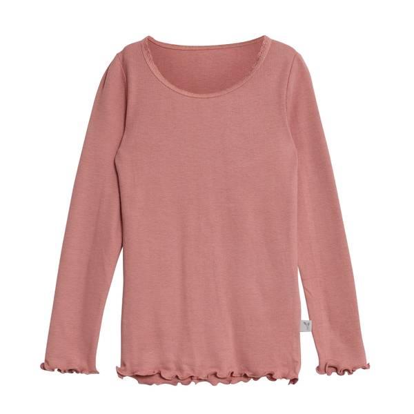 Bilde av Wheat ribb lace genser til barn, soft peach rose