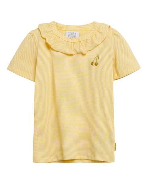 Bilde av Hust & Claire t-skjorte med striper, gul