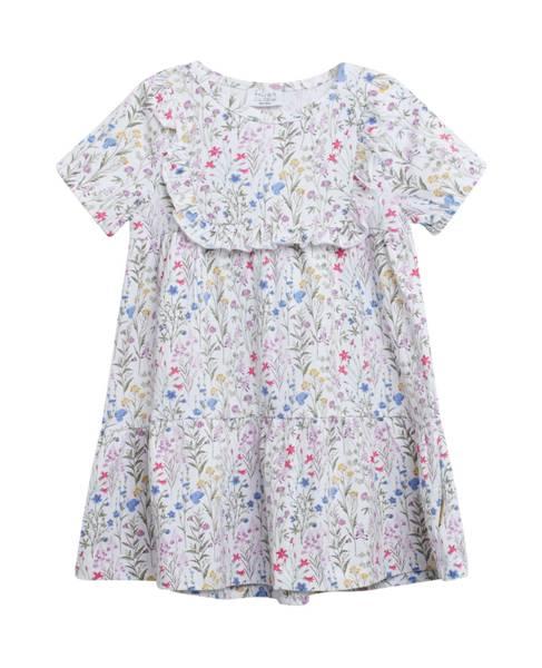 Bilde av Hust & Claire kjole med blomsterprint, hvit