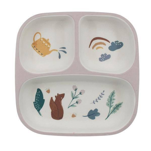 Bilde av Sebra melamin 3-delt tallerken til barn, daydream