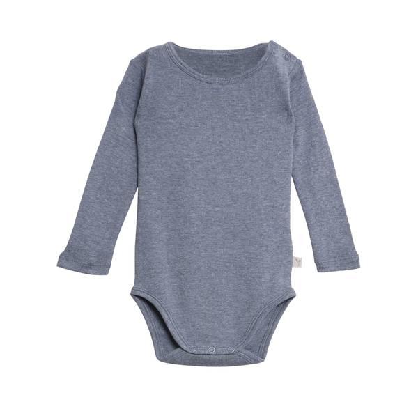 Bilde av Wheat ribb body til baby og barn, blåmelert