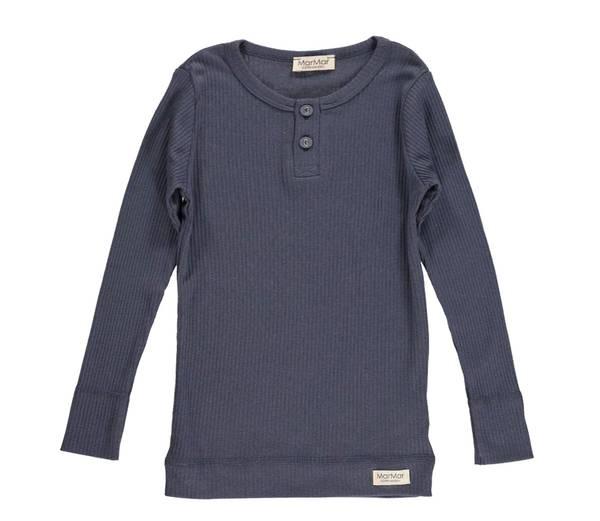 Bilde av MarMar ribb genser med knapper, blue