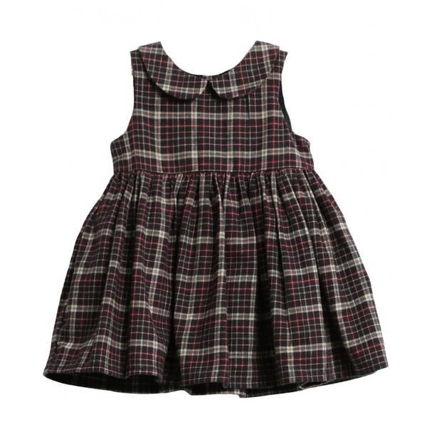 Bilde av Wheat Eila flanell kjole til barn med ruter, blå