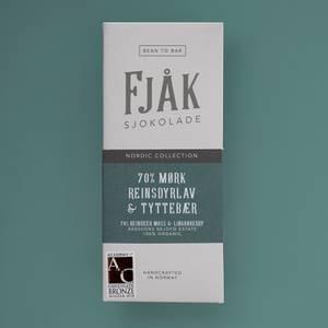 Bilde av Fjåk sjokolade 75% mørk reinsdyrlav og tyttebær,